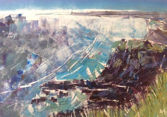 Clare Buchta -Mullion Cove To Poldu (Monoprint)